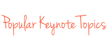 Popular Keynote Topics from Speaker Mary Fran Bontempo